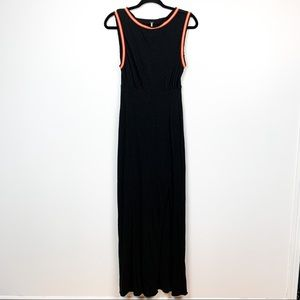 Free People Black Maxi Dress with Front Slit